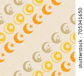 seamless pattern with symbol of ... | Shutterstock .eps vector #705341650