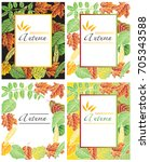 frame illustration with autumn...   Shutterstock .eps vector #705343588