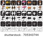 illustration of icons on a...   Shutterstock .eps vector #705343744