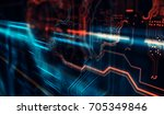 abstract technological... | Shutterstock . vector #705349846