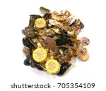 seafood mixed | Shutterstock . vector #705354109
