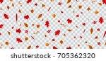 Falling Colorful Autumn Leaves...