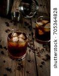 alcohol. drinks  boozy black...   Shutterstock . vector #705364828