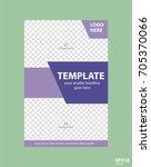 flyer concept brochure template ... | Shutterstock .eps vector #705370066