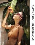 portrait of joyful girl in...   Shutterstock . vector #705376348