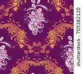 modern zendoodle rapport.... | Shutterstock .eps vector #705382120
