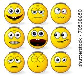 emoticon   set of cool yellow... | Shutterstock .eps vector #70538650