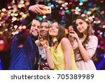friends are celebrating the... | Shutterstock . vector #705389989