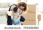 wife and husband are happy to...   Shutterstock . vector #705400483