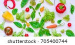 collection of fresh organic... | Shutterstock . vector #705400744