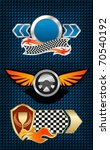 Isolated racing symbols and icons for design - also as emblem. Jpeg version also available in gallery - stock vector