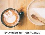 morning coffee  cappuccino... | Shutterstock . vector #705403528