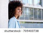 close up side portrait of... | Shutterstock . vector #705403738