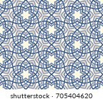 arabesque floral pattern.... | Shutterstock .eps vector #705404620
