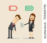 business and life energy. tired ...   Shutterstock .eps vector #705405790
