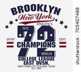 new york brooklyn sport wear... | Shutterstock . vector #705407488