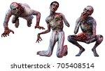 Zombie Loonies 3d Illustration