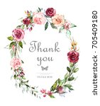 hand painted card  watercolor... | Shutterstock . vector #705409180