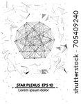 plexus.abstract background.... | Shutterstock .eps vector #705409240