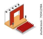 vector isometric theatre... | Shutterstock .eps vector #705412984