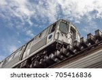 subway passing overhead with... | Shutterstock . vector #705416836