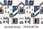 seamless vector pattern.... | Shutterstock .eps vector #705418726