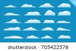 vector of clouds collection | Shutterstock .eps vector #705422578
