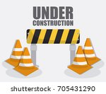 under construction design | Shutterstock .eps vector #705431290