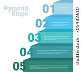 stacked pyramid chart... | Shutterstock .eps vector #705432610