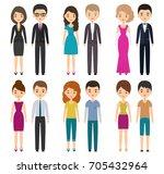 characters flat people in... | Shutterstock . vector #705432964