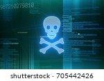 dangerous software and internet ...   Shutterstock . vector #705442426