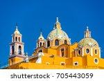 beautiful church known as our... | Shutterstock . vector #705443059