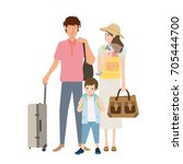 people traveling | Shutterstock .eps vector #705444700