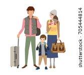 people traveling | Shutterstock .eps vector #705444814