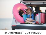 vacation  travel   family ready ... | Shutterstock . vector #705445210