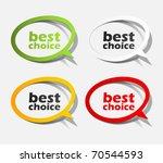 eps10  realistic design elements | Shutterstock .eps vector #70544593