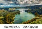 establishing shot of the lagoa...   Shutterstock . vector #705450700