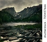 Mist Rises Over Dream Lake - Fine Art prints