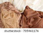 different fabrics. organza ... | Shutterstock . vector #705461176