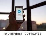 kazan russia 07.08.2016  iphone ... | Shutterstock . vector #705463498