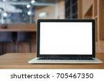 mock up blank screen of laptop...   Shutterstock . vector #705467350