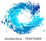 splash round wave on white... | Shutterstock .eps vector #705470689