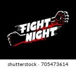fight night mma  wrestling ... | Shutterstock .eps vector #705473614