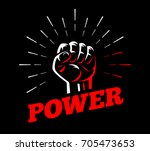 power front fist vector... | Shutterstock .eps vector #705473653