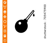 enema and drop icon | Shutterstock .eps vector #705475900