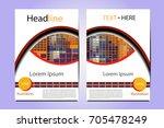 modern magazine layout template ... | Shutterstock .eps vector #705478249