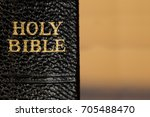 old holy bible spine with... | Shutterstock . vector #705488470