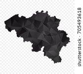 transparent   map of belgium.... | Shutterstock .eps vector #705493618