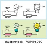 electronic circuit of lighting... | Shutterstock .eps vector #705496060
