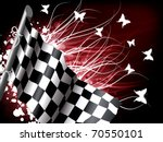 abstract checkered flag with... | Shutterstock .eps vector #70550101